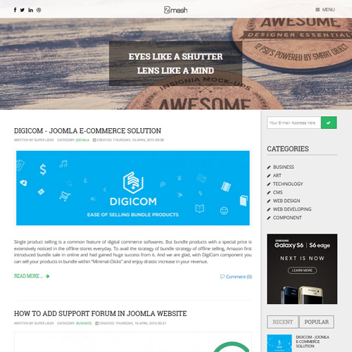Zmash Joomla Template