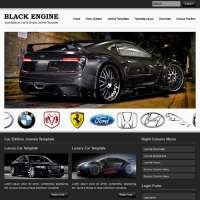 Black Engine Joomla Template