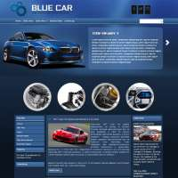 Blue Car Joomla Template