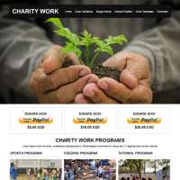 Charity Work Joomla Template