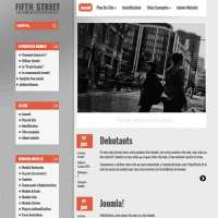 Fifth Street Red Joomla Template