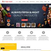 Food Court Joomla Template