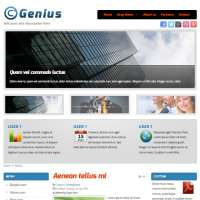 Genius Joomla Template