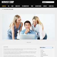 Intivest Corp Black Joomla Template