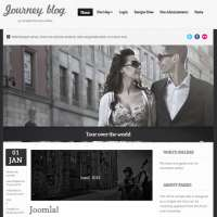 Journey Blog Dark Joomla Template