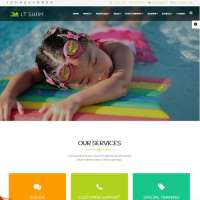 Swim Joomla Template