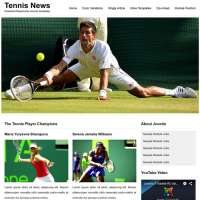 Tennis News Joomla Template